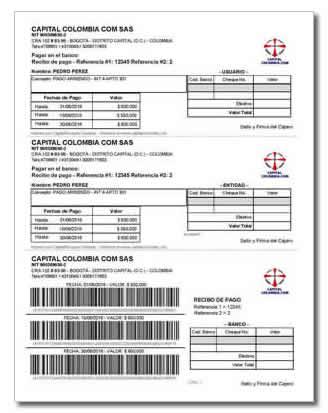capitalrecaudo programa para imprimir recibos con códigos de barras