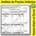 Análisis de precios unitarios en Excel