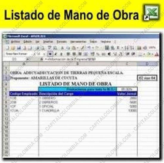 Ctm lista de precios mano de obra lista de precios mano de for Precios mano de obra construccion 2016 espana