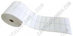 Ampliar foto de Rollo de etiquetas en papel térmico de 5.000 rótulos a dos columnas (5.01cms x 2.5cms)