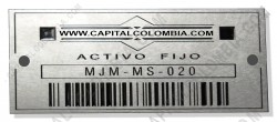 Ampliar foto de Venta de 100 placas en acero con código de barras para marcar maquinaria / activos fijos