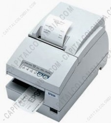 Ampliar foto de Impresora matricial Epson TM-U675 (Serial) color beige