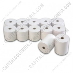 Ampliar foto de Rollos de papel térmico de 80mm X 60mts X 50 unidades