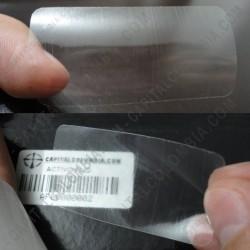 Ampliar foto de Rollo de etiquetas transparentes de 2.500 etiquetas a dos columnas (5.3cms x 2.8cms)