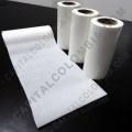 Rollos de etiquetas adhesivas y Nylon Textil, Marca: CapitalColombia - Rollo de etiquetas transparentes de 2.500 etiquetas a dos columnas (5.3cms x 2.8cms)