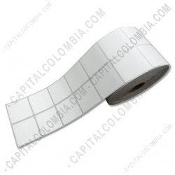 Ampliar foto de Rollo de Etiquetas en papel Térmico de 5.000 rótulos a dos columnas (Tamaño 4cms x 4cms)