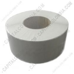 Ampliar foto de Rollo de etiquetas punta redonda de 2.500 rótulos a una columna (7.4 cms x 5.0 cms)
