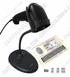 Ampliar foto de Combo Lector de Código de Barras Xenon 1900 (2D Imager) USB con base y con software CapitalXenon para Cédulas, Tarjetas de Identidad, Licencias y Tarjetas de Propiedad de Vehículos en Colombia