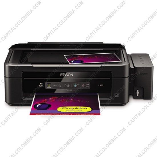 Impresoras, Memorias, Balanzas, Cables, Tablas Digitalizadoras de Firmas, Accesorios, Marca: Epson - Impresora Epson WIFI Multifuncional Epson L355