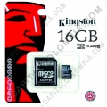 Memoria Kingston Micro SD 16GB Micro con Adaptador SD