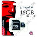 Ampliar foto de Memoria Kingston Micro SD 16GB Micro con Adaptador SD