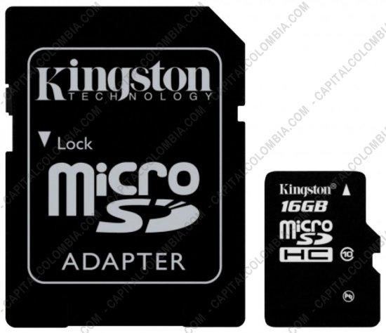 Discos duros externos, de estado sólido, Memorias USB, Kingston, Marca: Kingston - Memoria Kingston Micro SD 16GB Micro con Adaptador SD
