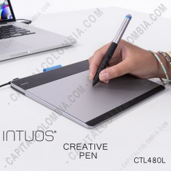 Ampliar foto de Tableta Wacom Intuos Creative Pen Small (CTL480 L) - (Reemplaza al modelo Bamboo Connect CTL470 L)