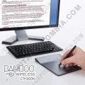 Bamboo PAD inalámbrico color plata con negro (CTH300K)
