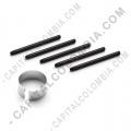 Kit de cinco (5) puntas de repuesto negras para tablas digitalizadoras Wacom Bamboo/Creative e Intuos 2/3/4/5/Pro/Cintiq con extractor de puntas