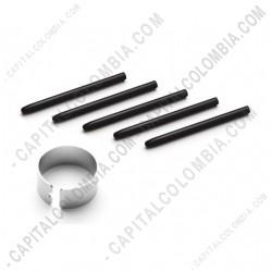 Ampliar foto de Kit de cinco (5) puntas de repuesto negras para tablas digitalizadoras Wacom Bamboo/Creative e Intuos 2/3/4/5/Pro/Cintiq con extractor de puntas