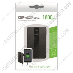 Ampliar foto de Cargador Portátil de Celular GP PowerBank 1800 mAh