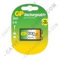 Pila Cuadrada Recargable 8.4V marca GP 200 mAh - Paquete de una (1) batería
