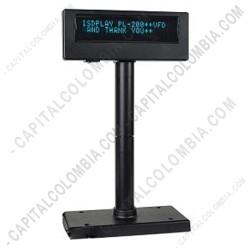 Ampliar foto de Visor de Precios VFD SAT puerto USB (Pole Display)