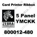 Cinta para impresora Zebra de 5 Paneles de color YMCKK para 500 impresiones (Ref. 800012-480)