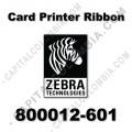 Cinta para impresora Zebra de color negro para 1.250 impresiones (1 cara) y/o 625 impresiones (2 caras) (Ref. 800012-601)