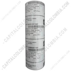 Ampliar foto de Rollo de cinta resina lavable Zebra color negro (wax resin) de 110mm x 74 mts (Outside)