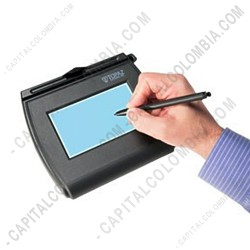 Ampliar foto de Tabla Digitalizadora de Firmas Topaz SigLite LCD 4x3 y Backlight - USB-Serial - T-LBK750-BHSB-R