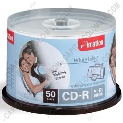 Ampliar foto de CD-R Imation imprimible x 50 unidades - Velocidad 52x - 700Mb