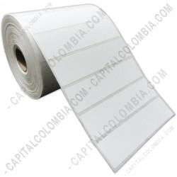 Ampliar foto de Rollo de etiquetas en papel térmico de 1.250 rótulos a una columna (10cms x 2.5cms)
