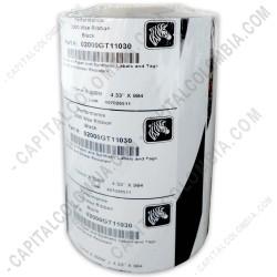 Ampliar foto de Rollo de cinta resina lavable Zebra (wax resin) de 110mm x 300 mts (Outside)