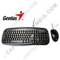 Combo teclado y mouse Genius KM-200 conexión USB