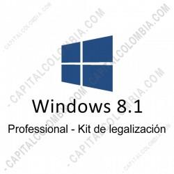 Ampliar foto de Microsoft Windows 8.1 Professional Sngl OLP Nl Legalization GetGenuine (Kit de Legalización)