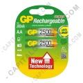 Pila Recargable AA 1.2V marca GP 2500 mAh - Paquete de dos (2) baterías