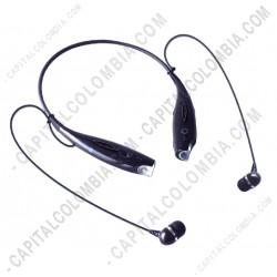 Ampliar foto de Audifonos Bluetooth sport in-ear, control volumen y canción, micrófono llamadas de voz, color negro