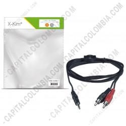 Ampliar foto de Cable Estéreo de Audio de 3.5mm a 2RCAM