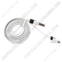 Ampliar foto de Cable USB MA a MicroUSB M color Blanco