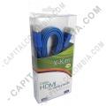 Ampliar foto de Cable HDMI plano color Azul de 1.5 metros