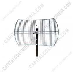 Ampliar foto de Antena Parabólica Exterior de Rejilla de 5GHz 30dBi, conector tipo N (TL-ANT5830B)