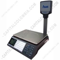 Ampliar foto de Balanza con Visor de Precios de tres líneas y LCD Frontal Aclas PSX1