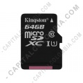 Discos duros externos, de estado sólido, Memorias USB, Kingston, Marca: Kingston - Memoria Kingston Micro SD 64GB Micro Clase 10 con Adaptador SD