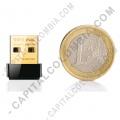 Ampliar foto de Adaptador Tarjeta de Red USB Nano Inalámbrico N 150Mbps,  Nano USB Adapter, Tamaño pequeño (Nano)(TL-WN725N)