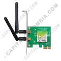 Ampliar foto de Tarjeta de Red Inalámbrica conexión PCI Express N 300Mbps de 2 antenas (TL-WN881ND)