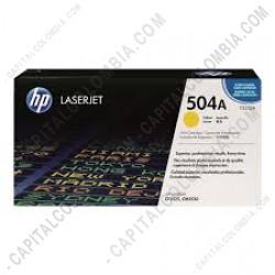 Ampliar foto de Toner Hp Amarillo Laserjet Cp3525 / 3525dn / 3525x, 7000 Páginas (Ref. CE252A)