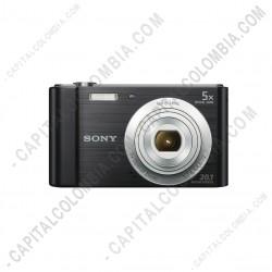 Ampliar foto de Cámara en combo compacta W800 con zoom óptico de 5x + Memoria + Estuche (Ref. DSC-W800/BC)