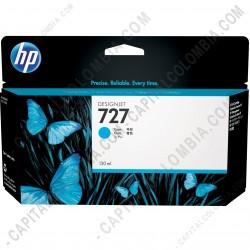 Ampliar foto de Cartucho HP Cyan # 727 DesignJet T920/T1500/T250000, 130ml (Ref. B3P19A)