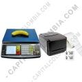 Ampliar foto de Combo Balanza Digital Quantum DS-30, Impresora TSC TTP244Pro y 2.500 Etiquetas Adhesivas 5cms x 2.5cms