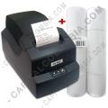 Combo Impresora Térmica 58mm ancho de papel - SAT 15T (USB + Serial) y 8 Rollos de Papel Térmico