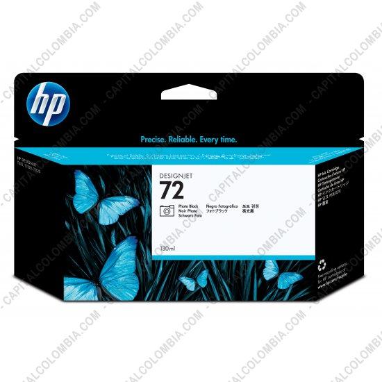 Cintas para impresoras POS, Tonner, CD, DVD y Otros, Marca: HP - Cartucho Hp Photo Black 72 de 130ml para T1100/jt610 (Ref. C9370A)