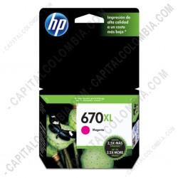 Ampliar foto de Cartucho Hp Magenta 670xl Hp Deskjet Ink Advantage 3525/4615 4625/5525 para 750 Páginas (Ref. CZ119AL)