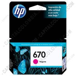 Ampliar foto de Cartucho de Tinta Hp Magenta 670 para Hp Deskjet Ink Advantage 3525/4615/4625/5525 para 300 Páginas (Ref. CZ115AL)
